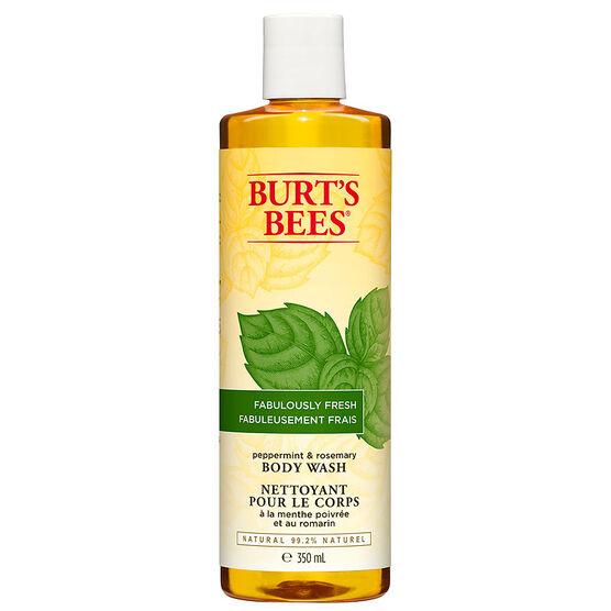 Burt's Bees Fabulously Fresh Body Wash - Peppermint and Rosemary - 350ml