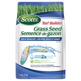 Scott's Turf Builder Sun & Shade Grass Seed Mix - 1.4kg - SC1-12550