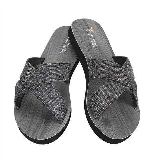 Chinese Laundry Cross Strap Slide Sandal - Black