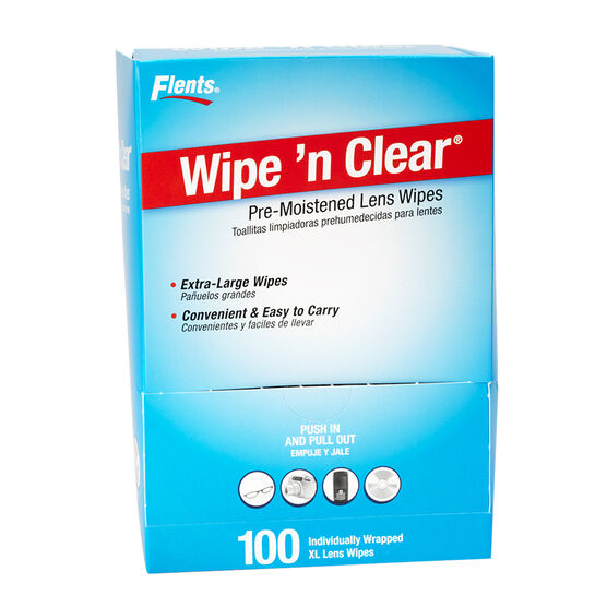 Flents Wipe n' Clear Pre-Moistened Lens Wipes - 100's