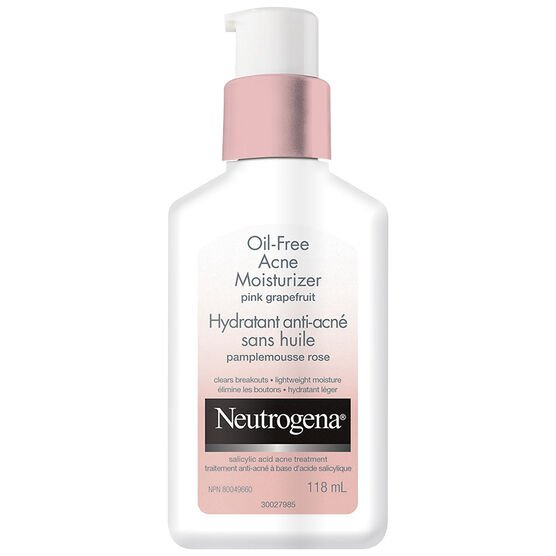 Neutrogena Oil Free Acne Moisturizer Pink Grapefruit - 118ml