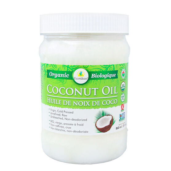 EcoIdeas Organic Coconut Oil - 860ml