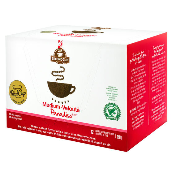 Second Cup Coffee - Medium Paradiso - 12 Servings