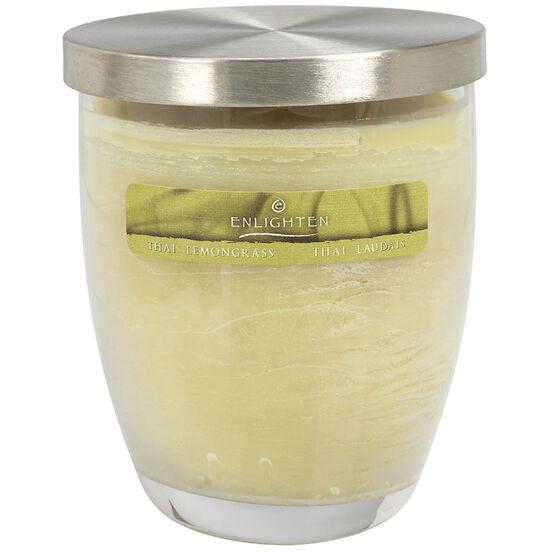 Wax Jar Candle with Lid - Thai Lemongrass - 10oz