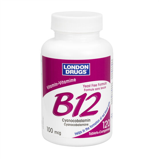 London Drugs Vitamin B12 - 100 mcg - 120's