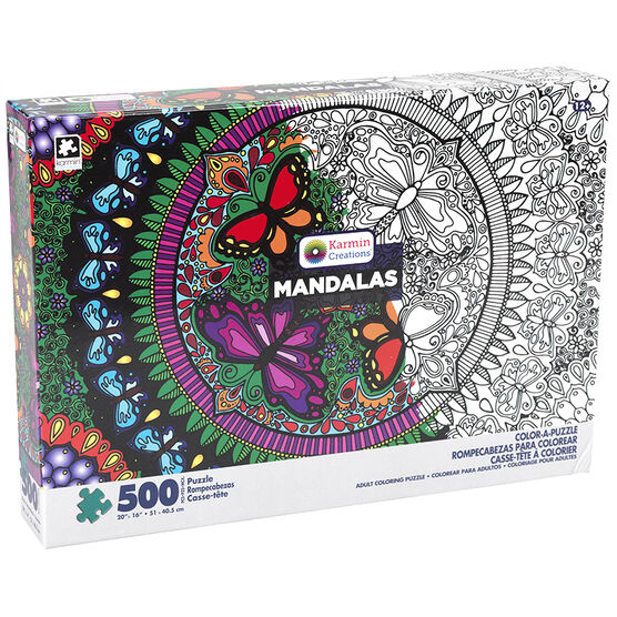 Mandalas Color-A-Puzzle - Assorted