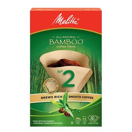 Melitta Bamboo Coffee Filters #2 -80 pack