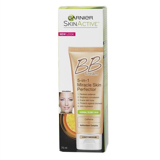 Garnier Skin Renew BB Cream Miracle Skin Perfector - Light/Medium - 75ml