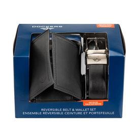 Docker's Wallet and Belt Set - Black - One Size