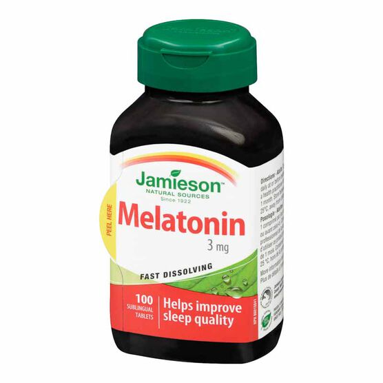 Jamieson Melatonin 3 mg Fast Dissolving Tablets - 100's