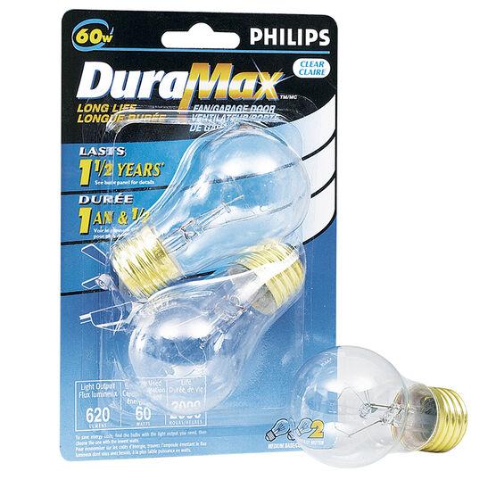Philips 60W Fan/Garage Light Bulbs - 2 pack - 129403