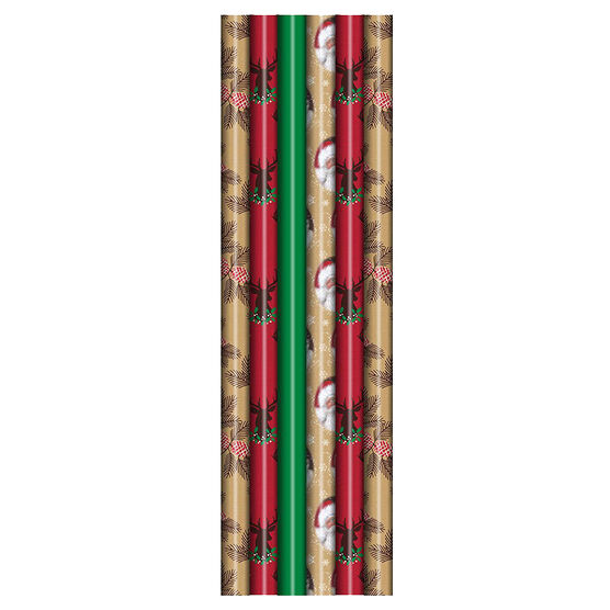 Plus Mark Lodge Wrapping Paper - 30x240in - 083930LDT - Assorted
