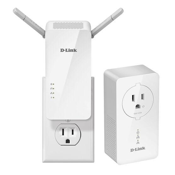 D-Link PowerLine AV2 1000 Wireless AC1200 Starter Kit - White - DHP-W611AV