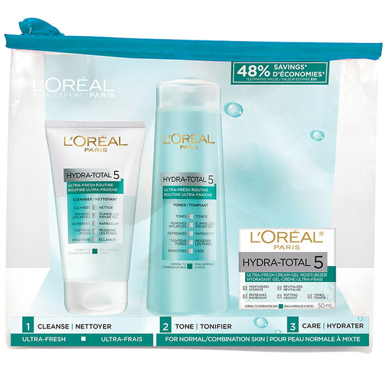 L'Oreal Hydra-Total 5 Ultra-Fresh Kit - 3 piece