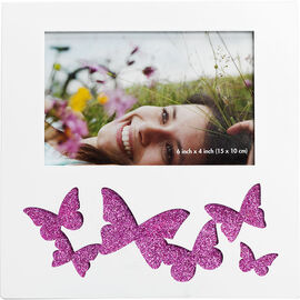 """Atico 4"""" x 6"""" Wood Frames - Butterfly - Assorted"""