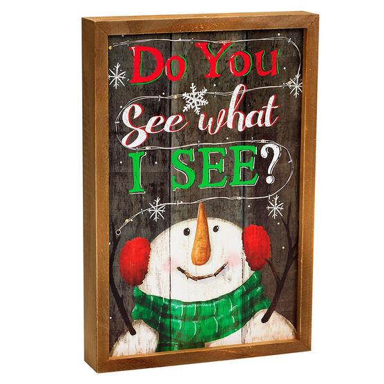 Christmas Frame 9 LED - 30cm - Assorted