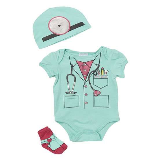Baby Mode Future Doctor 3-Piece Onesie Set - 7760 - Assorted