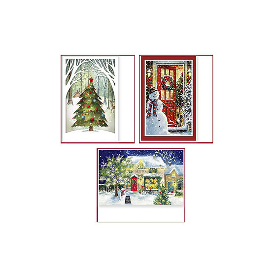 American Greetings Premium Christmas Cards - Whimsy - 14 count - Assorted