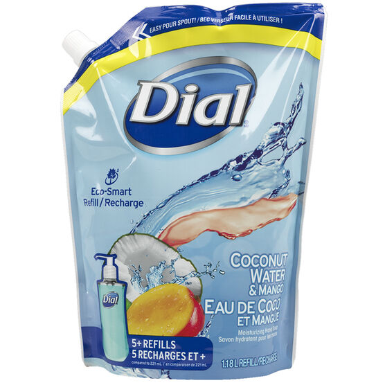 Dial Liquid Soap Refill - Coconut Water & Mango - 1.18L