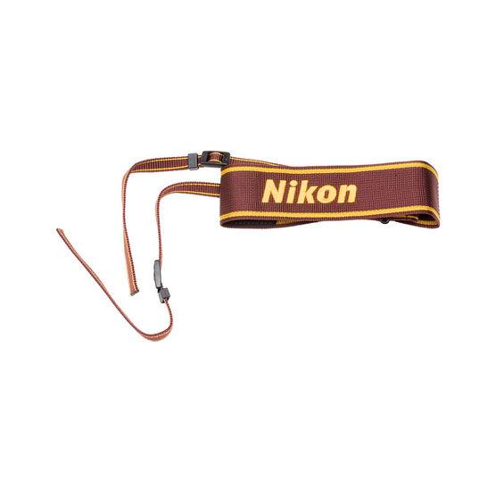 Nikon AN6W Wide Nylon Neck Strap - Wine