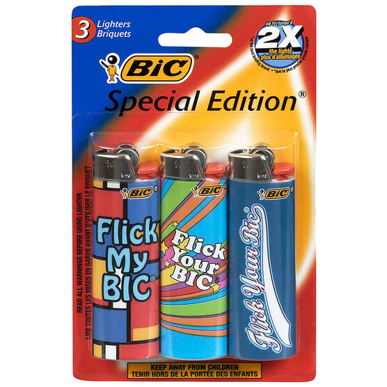 BIC Lighters - Assorted - 3 pack