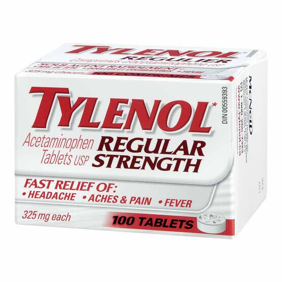 Tylenol* Regular Strength Tablets - 100's