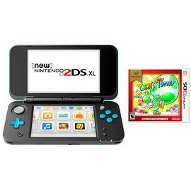 Nintendo New 2DSXL Gaming Console Bundle - Yoshis New Island