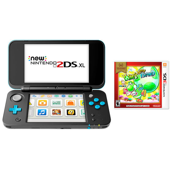 Nintendo New 2DSXL Gaming Console Bundle - Yoshis New Island