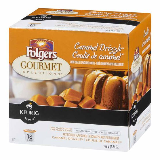 K-Cup Folgers Coffee Pods - Caramel Drizzle - 18's