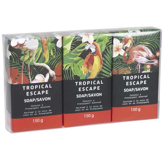 Tropical Escape Soap - Coconut Frangipani - 3 x 120g