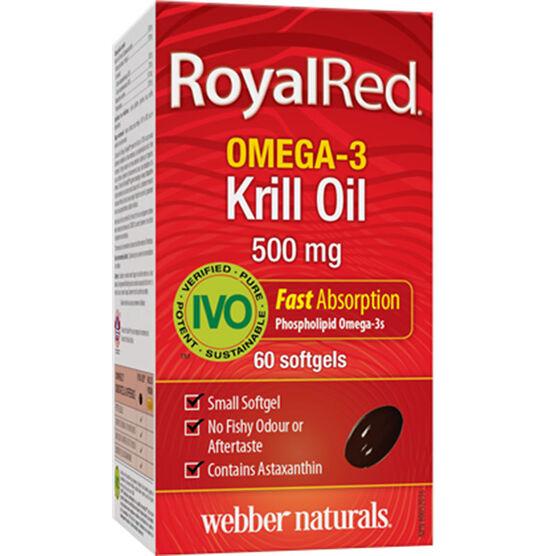Webber RoyalRed Omega-3 Krill Oil - 500mg - 60's