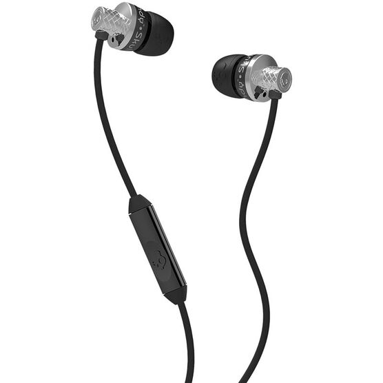 Skullcandy Titan Earbuds with Mic - Chrome/Black - SCS2TTDY016