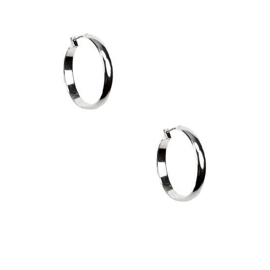 Anne Klein Silver Hoop Earrings - Silver