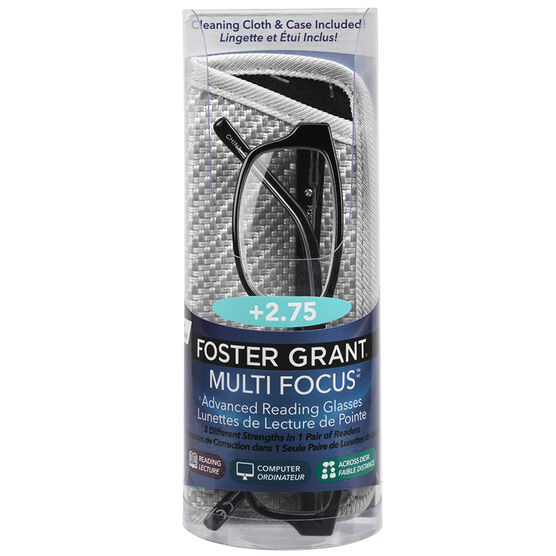 Foster Grant James Multifocus Reading Glasses - 2.75