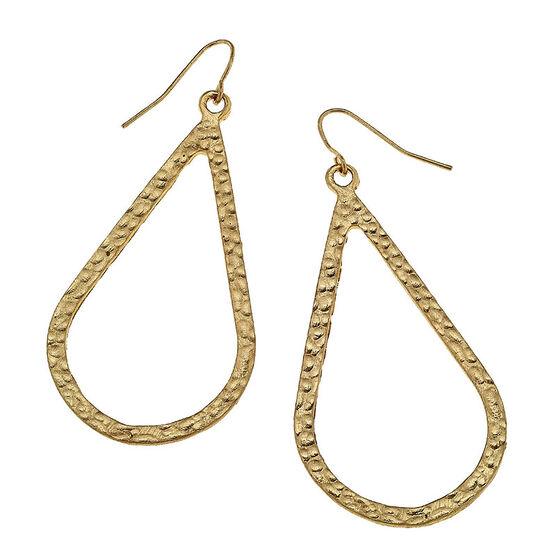Canvas Teardrop Earrings - Gold