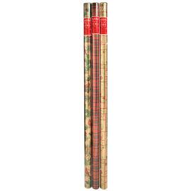 Christmas Metallic Gift Wrap - MP10732 - Assorted