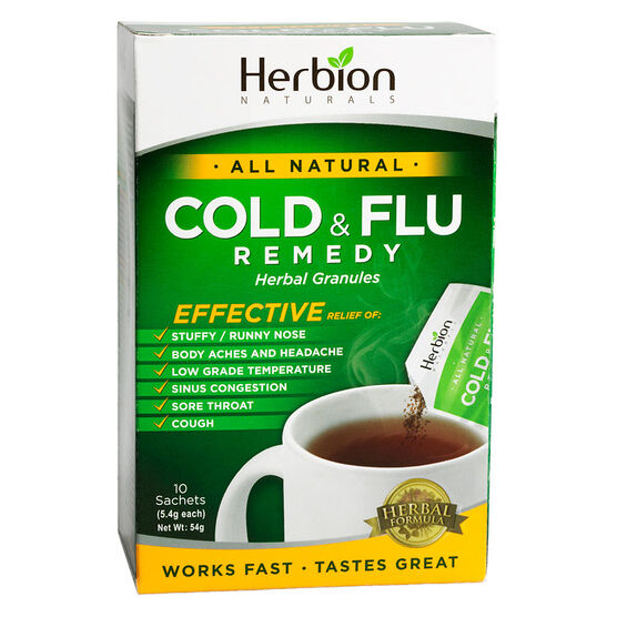 Herbion All Natural Cold & Flu Remedy Herbal Granules - 10's