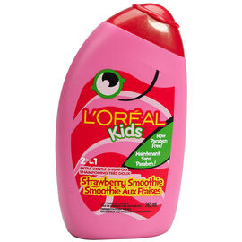 L'Oreal Kids 2in1 Extra Gentle Shampoo - Strawberry Smoothie - 265ml