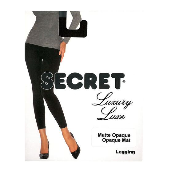 Secret Luxury Matte Legging - C - Black