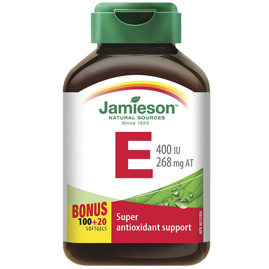 Jamieson Vitamin E 400 IU/268 mg AT  - 100's