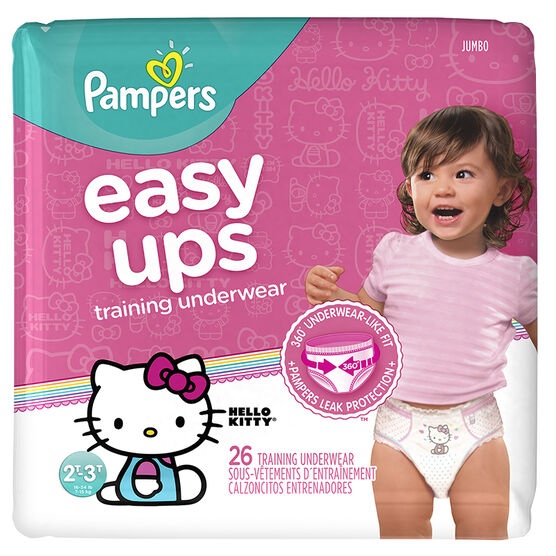 Pampers Easy Ups Training Underwear - 2T/3T - 26ct - Girls