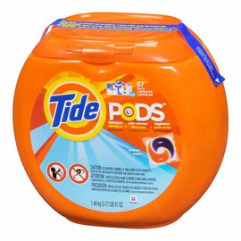 Tide Pods Detergent with Stain Remover and Brightener - Ocean Mist - 57's