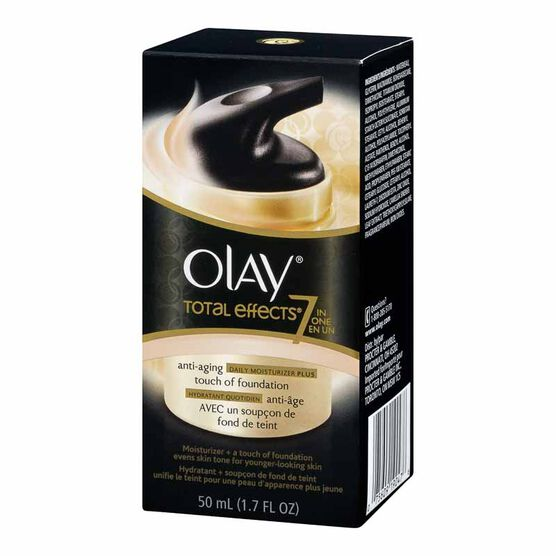 Olay Total Effects Anti-Aging Moisturizer Plus Touch of Foundation Cream - 50ml