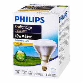 Philips 40W BR40 Ecovantage Light Bulb - Flood - 1 pack