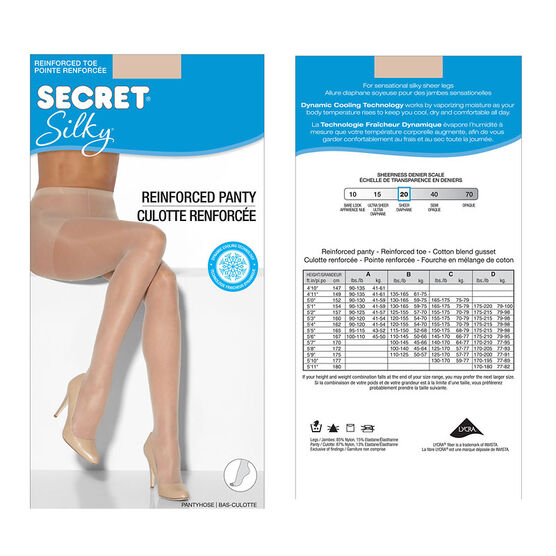 Secret Regular Silky Sheer Pantyhose - C - Nude