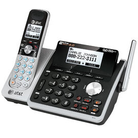 AT&T 2-Line Cordless CID Office Phone - Silver/Black - TL88102