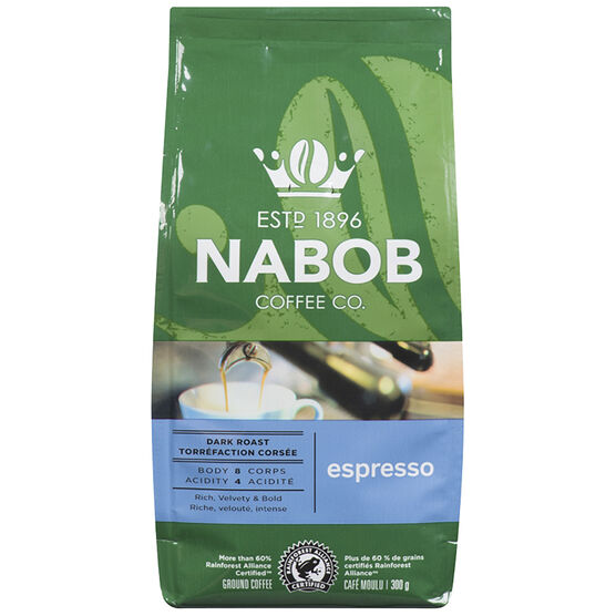Nabob Espresso Coffee - Dark Roast - Ground - 300g