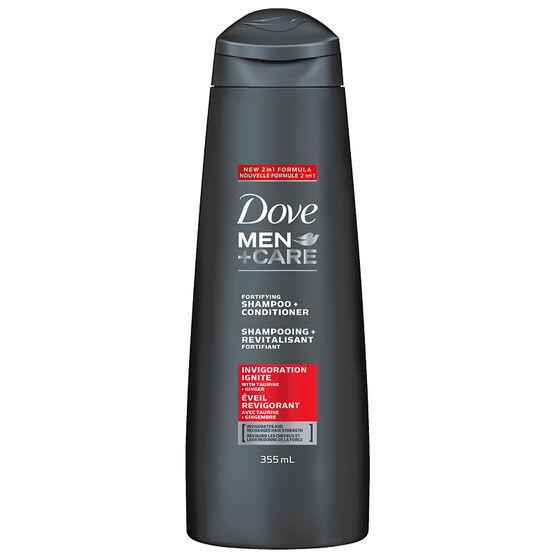 Dove Men+Care Fortifying Shampoo+Conditioner - Invigoration Ignite - 355ml