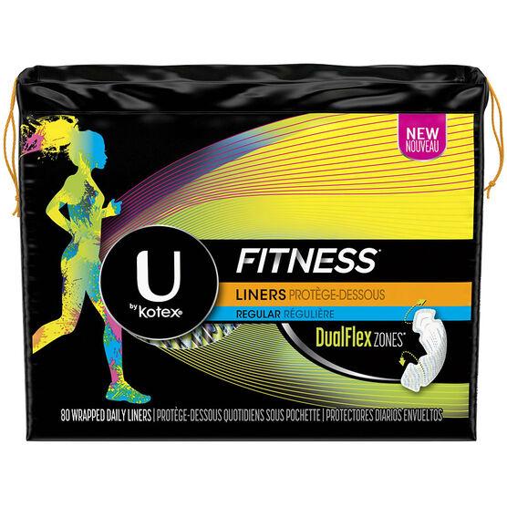 U by Kotex Fitness Liners - Regular - 80's