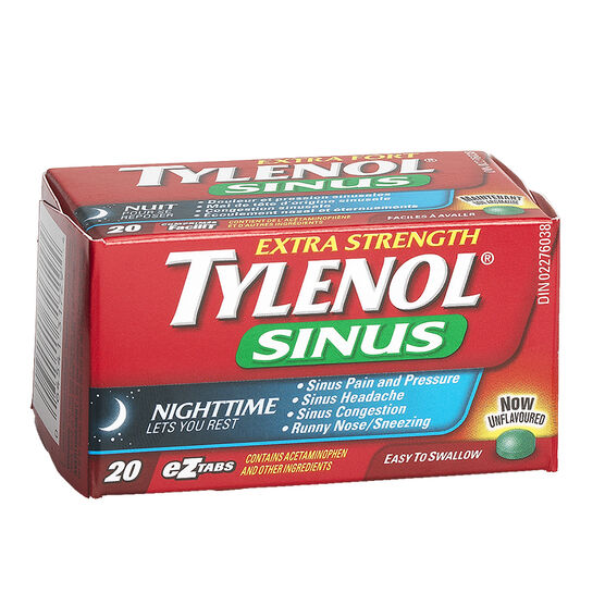 Tylenol* Sinus Extra Strength Nighttime - 20's